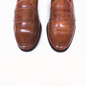 Johnston & Murphy Cognac Penny Loafers - Size 8